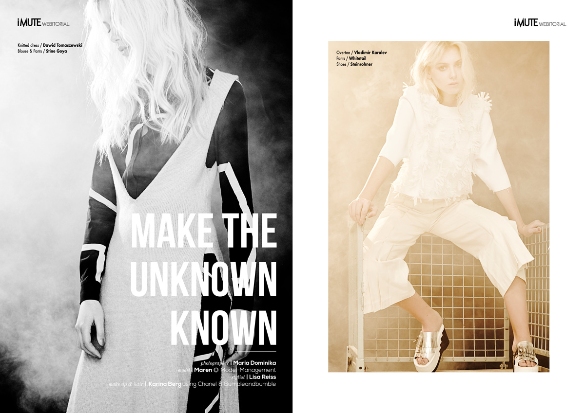 Make the unknown known webitorial for iMute Magazine